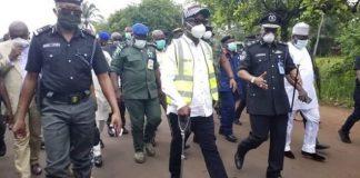 COVID-19: Ortom Inspects Closure Of Benue/Enugu Border ...Directs Upgrade of Otukpo General Hospital