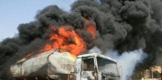 One Killed, Several Injured As Petrol Laden Tanker Bursts Into Flames In Lagos