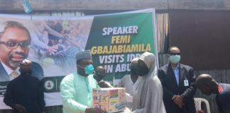 Gbajabiamila Storms Abuja IDP Camp With Palliatives