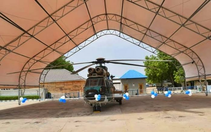 Anti-banditry Air Operations: NAF Constructs Aircraft Shelters
