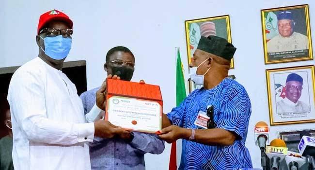Edo Guber Election: PDP Presents Certificate Of Return To Obaseki