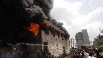 Fire guts CBN Gombe branch