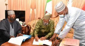 Badaru Signs Revised 2020 Budget