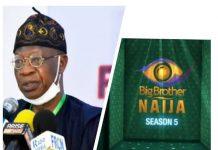 Lai Mohammed Asks NBC To Halt Big Brother Naija